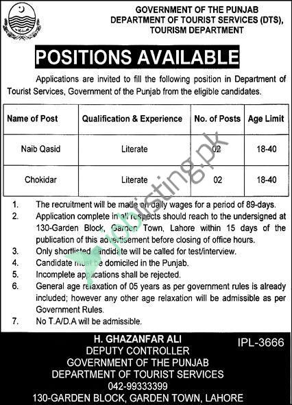 Employment Opportunities - Tourism Development Corporation of Punjab Jobs 2021