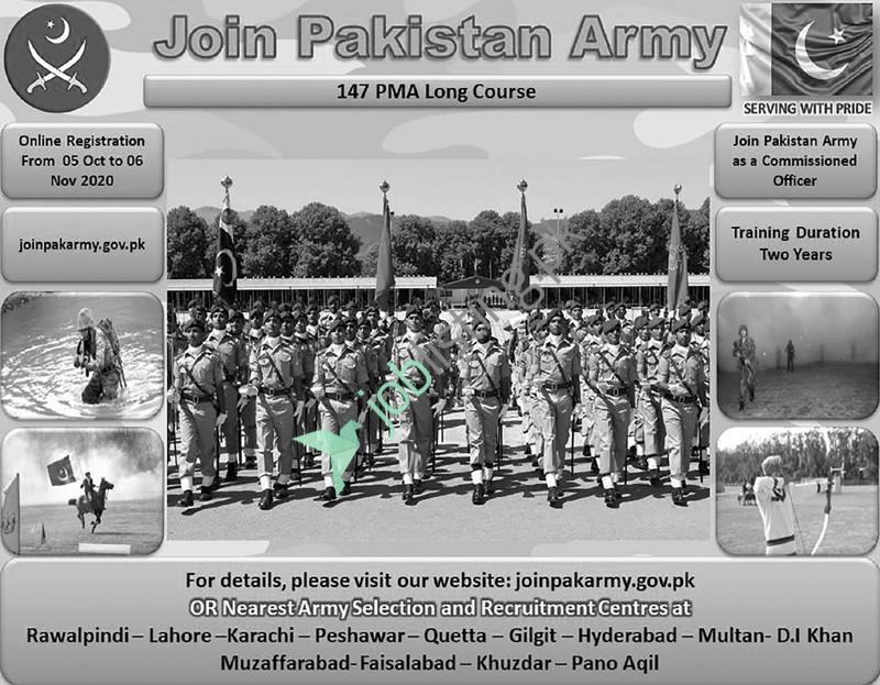 Join Pak Army - PMA Long Course 148 Online Registration 2021