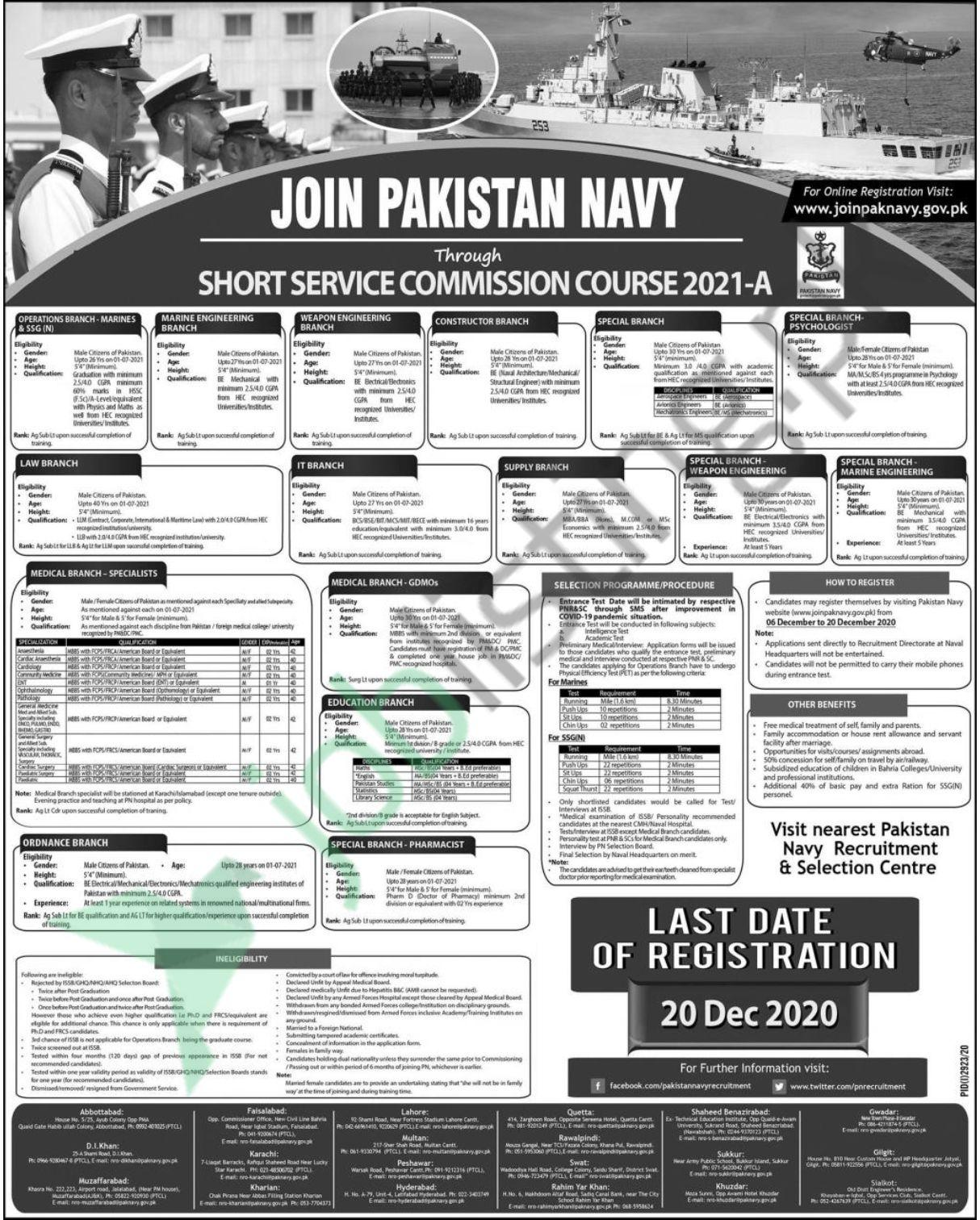 Join Pak Navy as Permanent Commission Jobs 2020