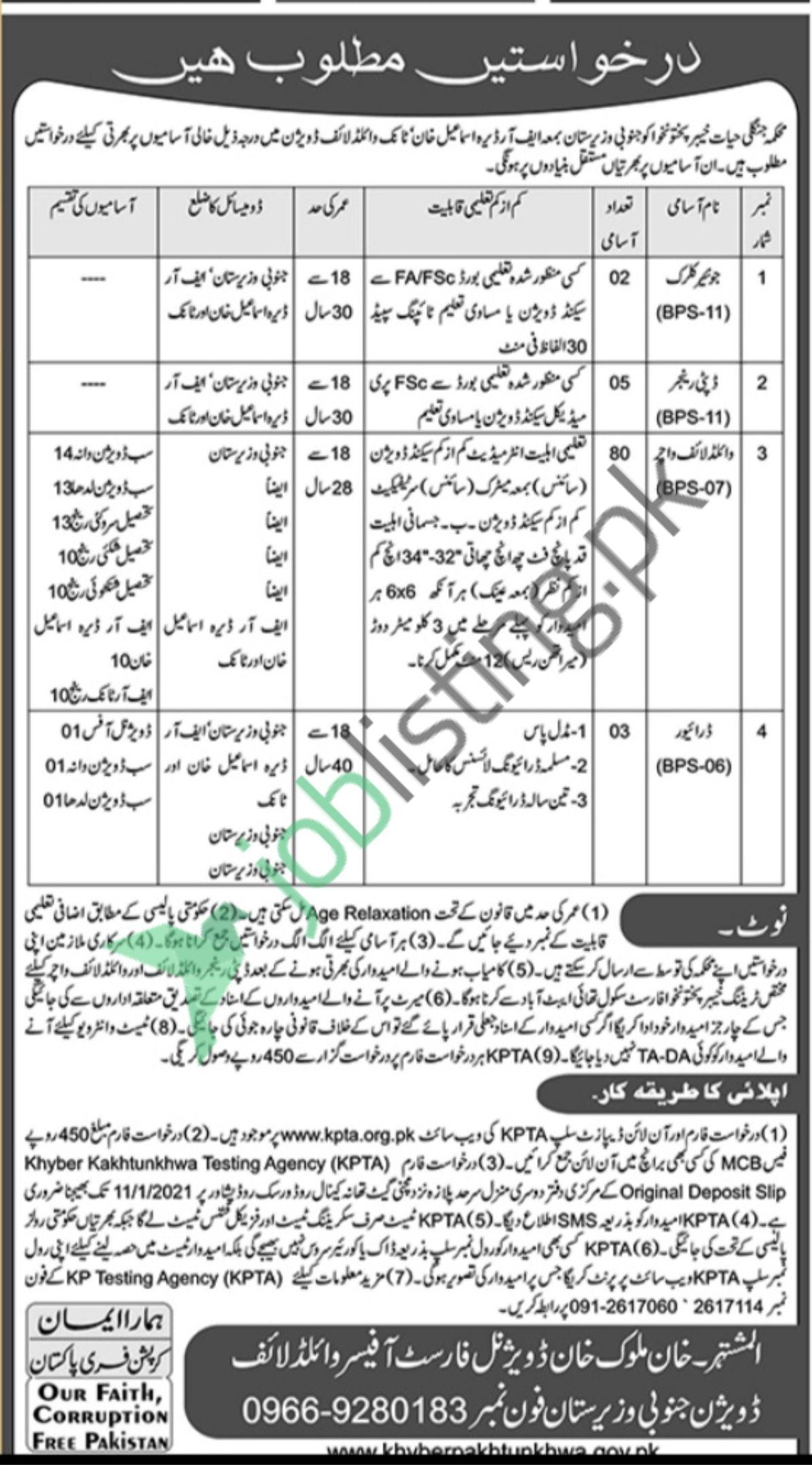 Divisional Forest Officer South Waziristan Wildlife Division