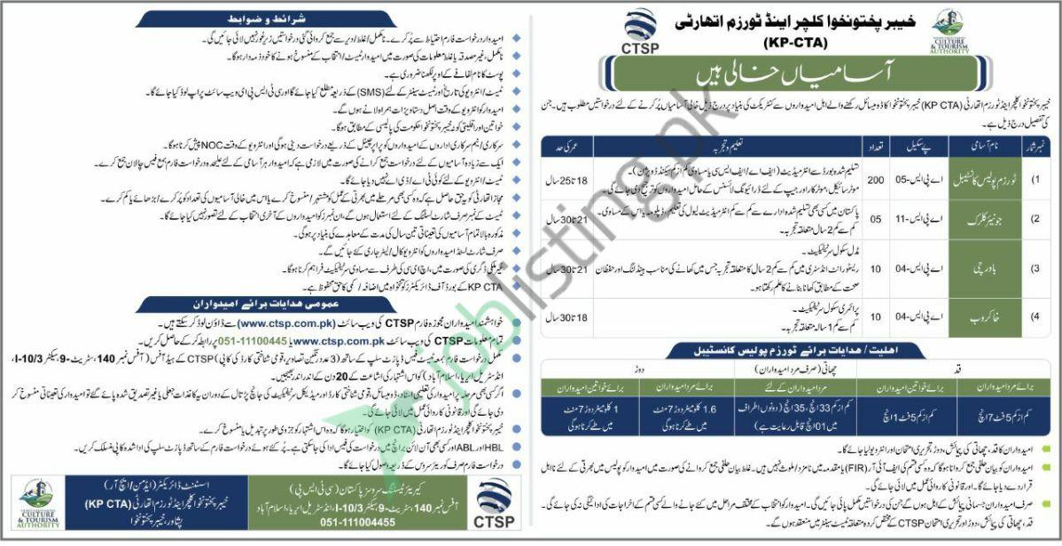 Khyber Pakhtunkhwa Culture and Tourism Authority Jobs 2020
