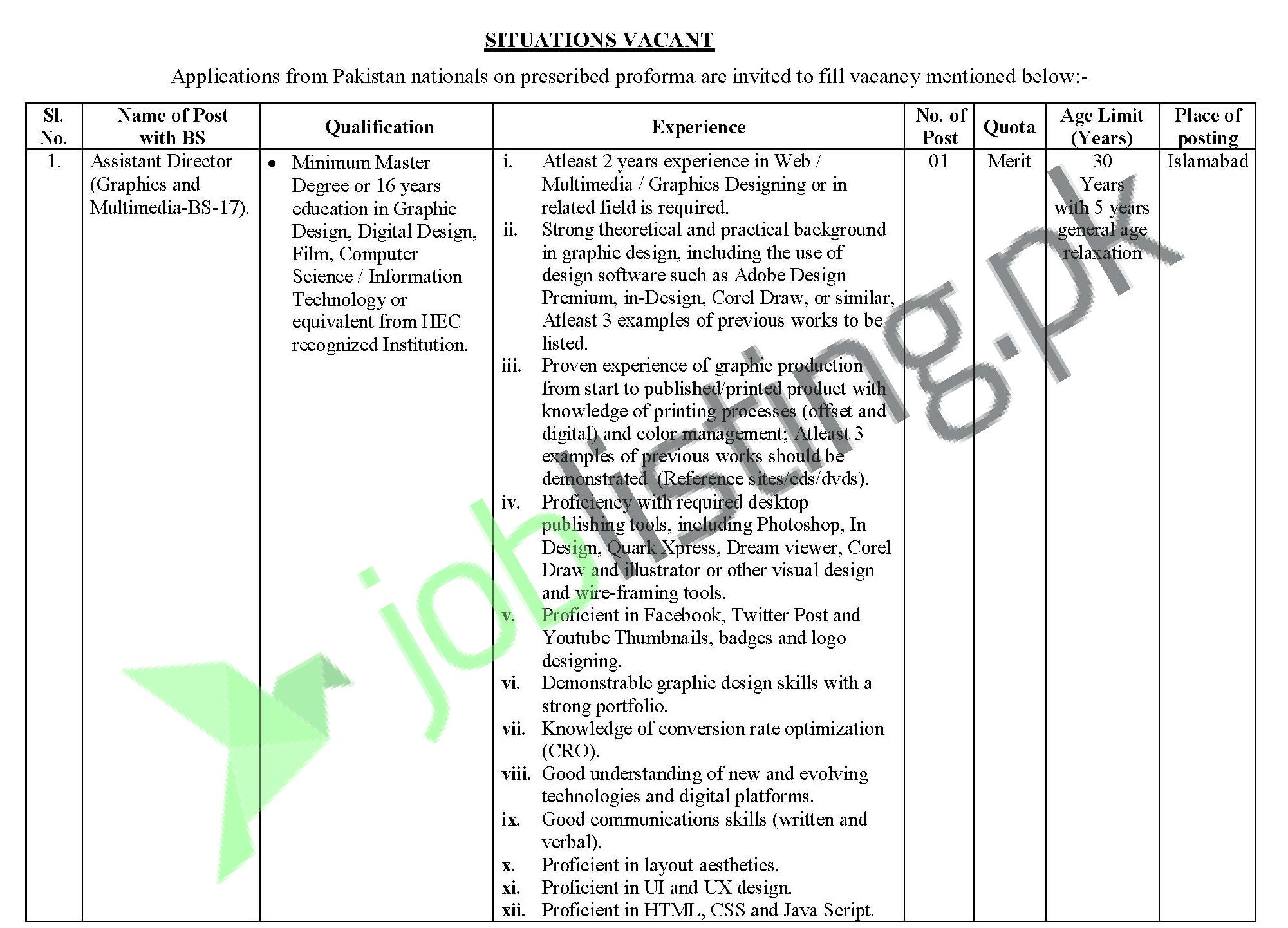 Election Commission of Pakistan ECP Jobs 2021 in Pakistan
