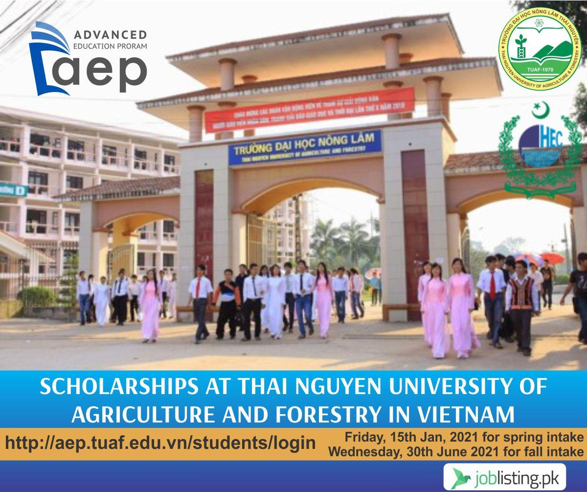 Scholarships at Thai Nguyen University of Agriculture and Forestry in Vietnam